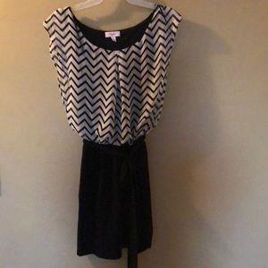 Chevron Black & White Dress
